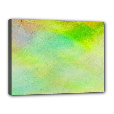 Abstract Yellow Green Oil Canvas 16  X 12