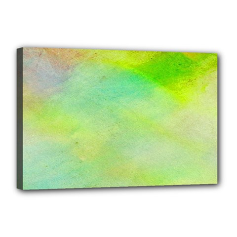 Abstract Yellow Green Oil Canvas 18  X 12