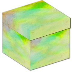 Abstract Yellow Green Oil Storage Stool 12