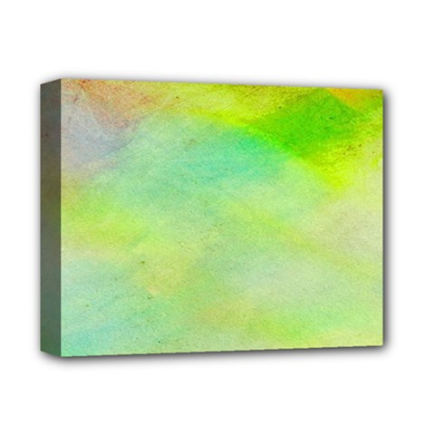 Abstract Yellow Green Oil Deluxe Canvas 14  x 11