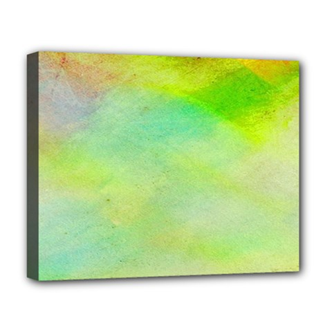 Abstract Yellow Green Oil Deluxe Canvas 20  x 16