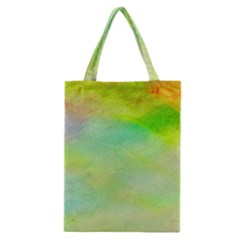 Abstract Yellow Green Oil Classic Tote Bag