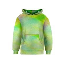 Abstract Yellow Green Oil Kids  Pullover Hoodie