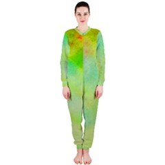 Abstract Yellow Green Oil OnePiece Jumpsuit (Ladies)