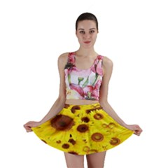 Beautiful Sunflowers Mini Skirt