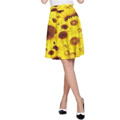 Beautiful Sunflowers A Line Skirt