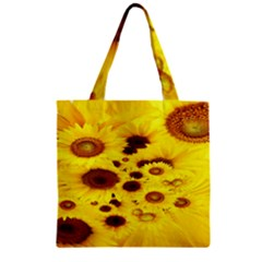 Beautiful Sunflowers Zipper Grocery Tote Bag