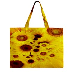Beautiful Sunflowers Zipper Mini Tote Bag
