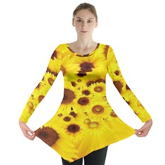 Beautiful Sunflowers Long Sleeve Tunic