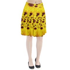 Beautiful Sunflowers Pleated Skirt
