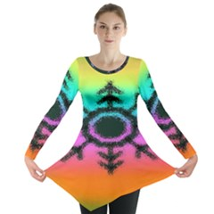 Vector Snowflake Long Sleeve Tunic