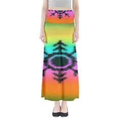 Vector Snowflake Full Length Maxi Skirt
