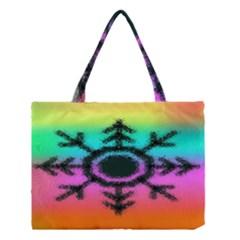 Vector Snowflake Medium Tote Bag
