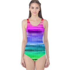 Pretty Color One Piece Swimsuit