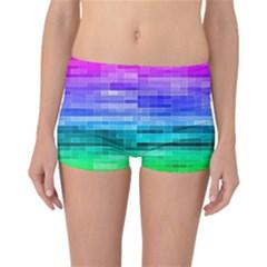 Pretty Color Reversible Boyleg Bikini Bottoms