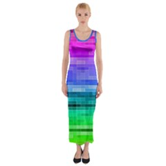 Pretty Color Fitted Maxi Dress