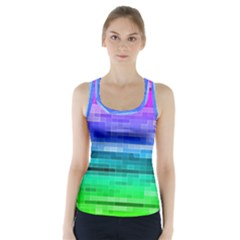 Pretty Color Racer Back Sports Top