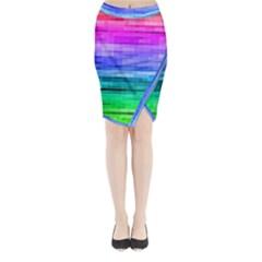 Pretty Color Midi Wrap Pencil Skirt