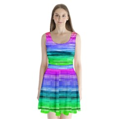 Pretty Color Split Back Mini Dress