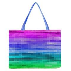 Pretty Color Medium Zipper Tote Bag