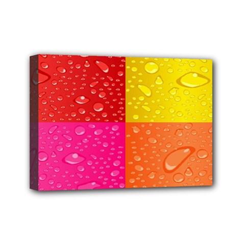 Color Abstract Drops Mini Canvas 7  x 5