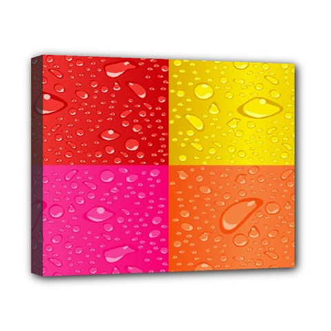 Color Abstract Drops Canvas 10  X 8