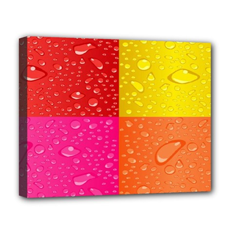 Color Abstract Drops Deluxe Canvas 20  X 16
