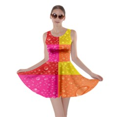 Color Abstract Drops Skater Dress