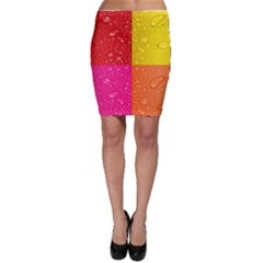 Color Abstract Drops Bodycon Skirt