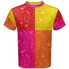 Color Abstract Drops Men s Cotton Tee