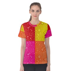 Color Abstract Drops Women s Cotton Tee