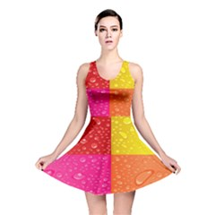 Color Abstract Drops Reversible Skater Dress