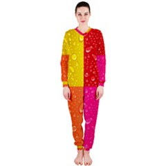 Color Abstract Drops Onepiece Jumpsuit (ladies)