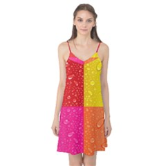 Color Abstract Drops Camis Nightgown