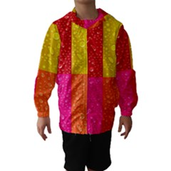 Color Abstract Drops Hooded Wind Breaker (Kids)