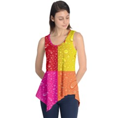Color Abstract Drops Sleeveless Tunic