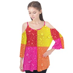 Color Abstract Drops Flutter Tees