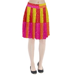 Color Abstract Drops Pleated Skirt