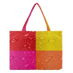 Color Abstract Drops Medium Tote Bag