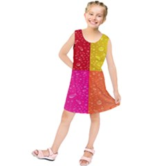 Color Abstract Drops Kids  Tunic Dress