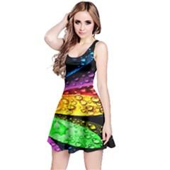 Abstract Flower Reversible Sleeveless Dress