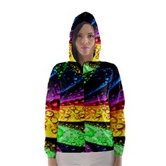 Abstract Flower Hooded Wind Breaker (Women)