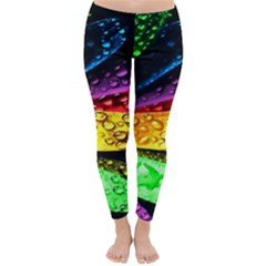 Abstract Flower Classic Winter Leggings