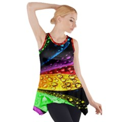 Abstract Flower Side Drop Tank Tunic