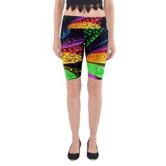Abstract Flower Yoga Cropped Leggings
