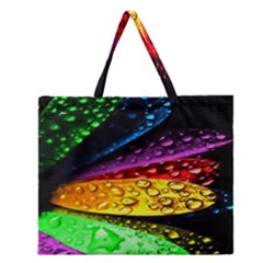 Abstract Flower Zipper Large Tote Bag