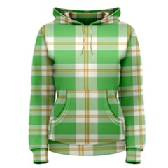 Abstract Green Plaid Women s Pullover Hoodie