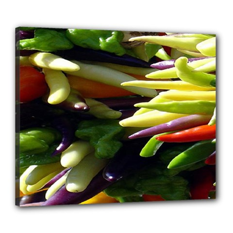 Bright Peppers Canvas 24  X 20