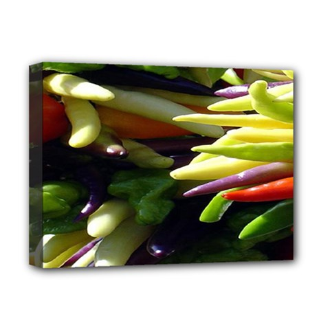 Bright Peppers Deluxe Canvas 16  x 12