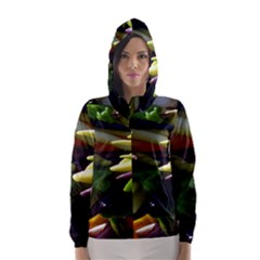 Bright Peppers Hooded Wind Breaker (women)